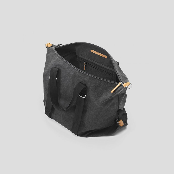Simple Holdall Washed Black by Qwstion